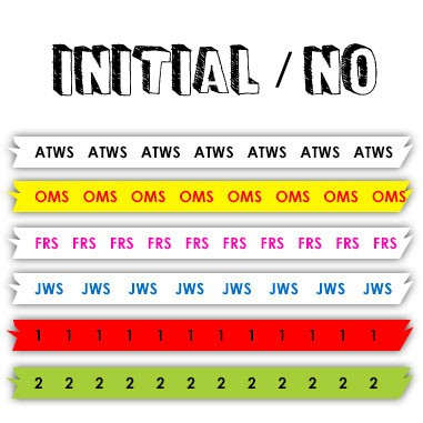 ArrowSocks Initial or Numbered Anchor Tape