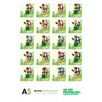 ArrowSocks Lego Green Army Figures - In aid of Macmillan Cancer Care