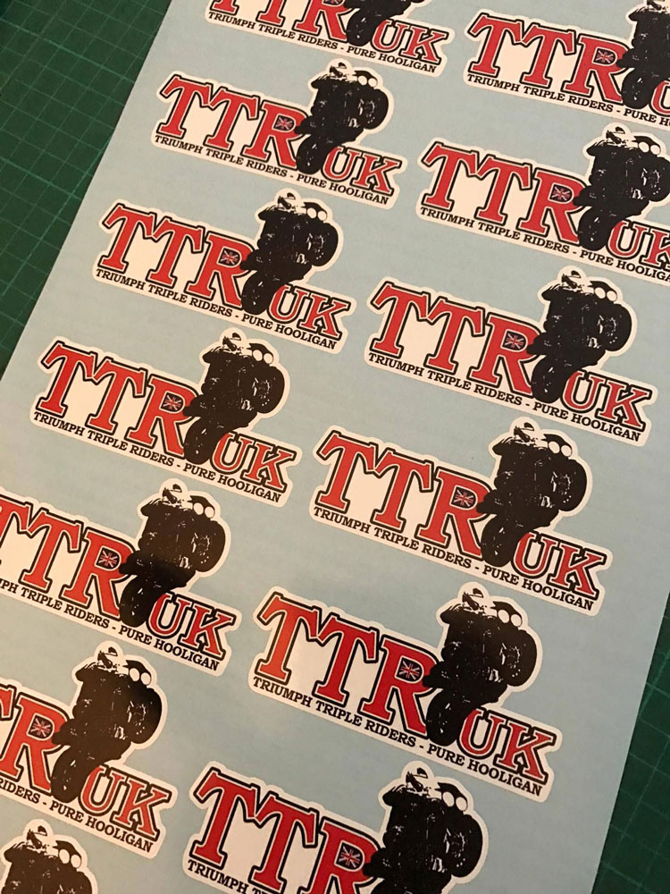Triumph Riders Stickers
